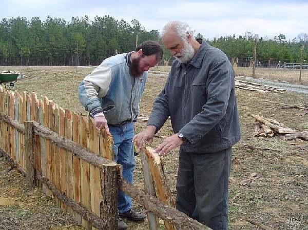 Ограда в частном секторе